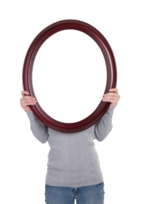 Woman Holding Blank Frame